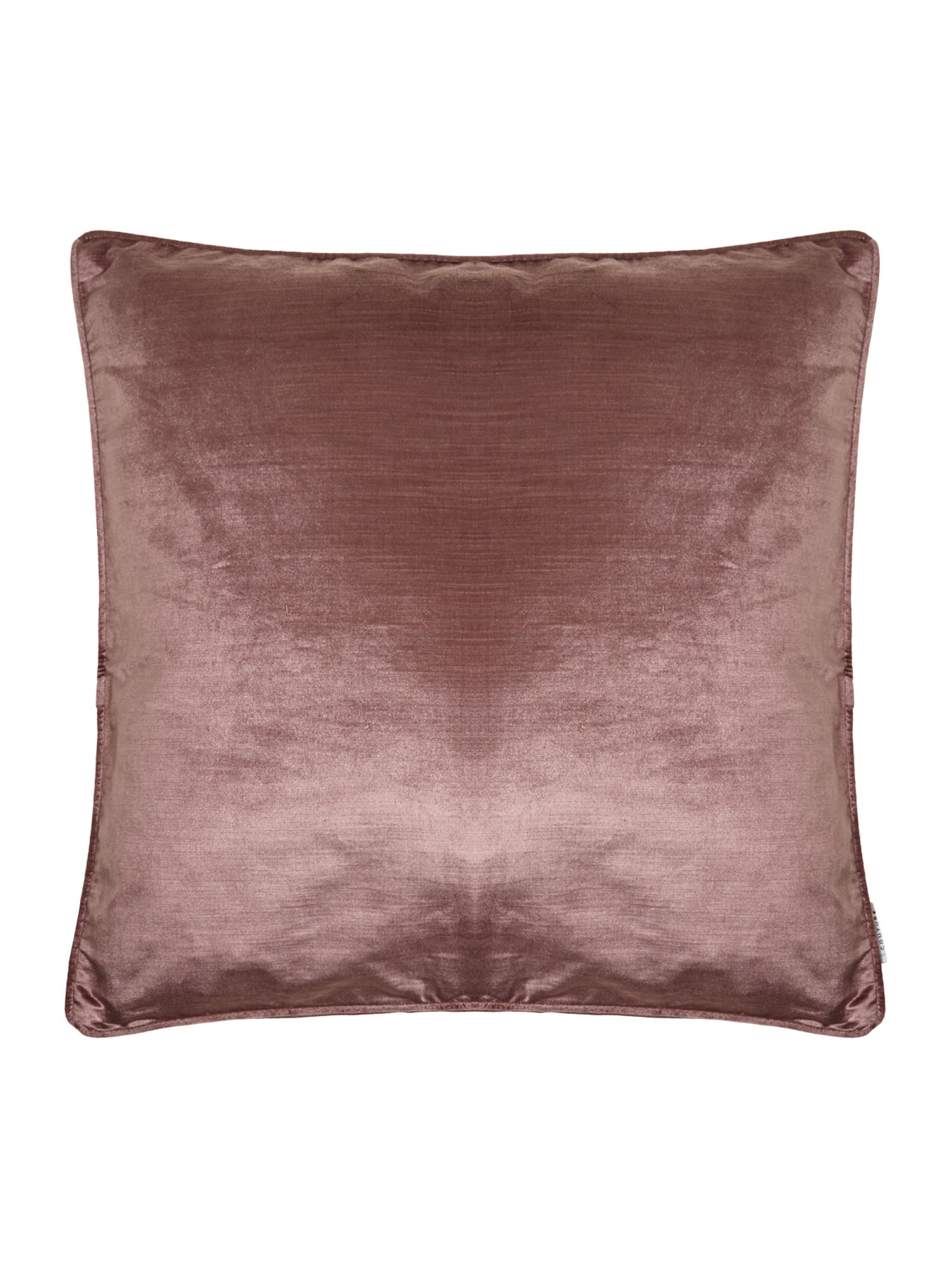 Oversized light plum velvet cushion
