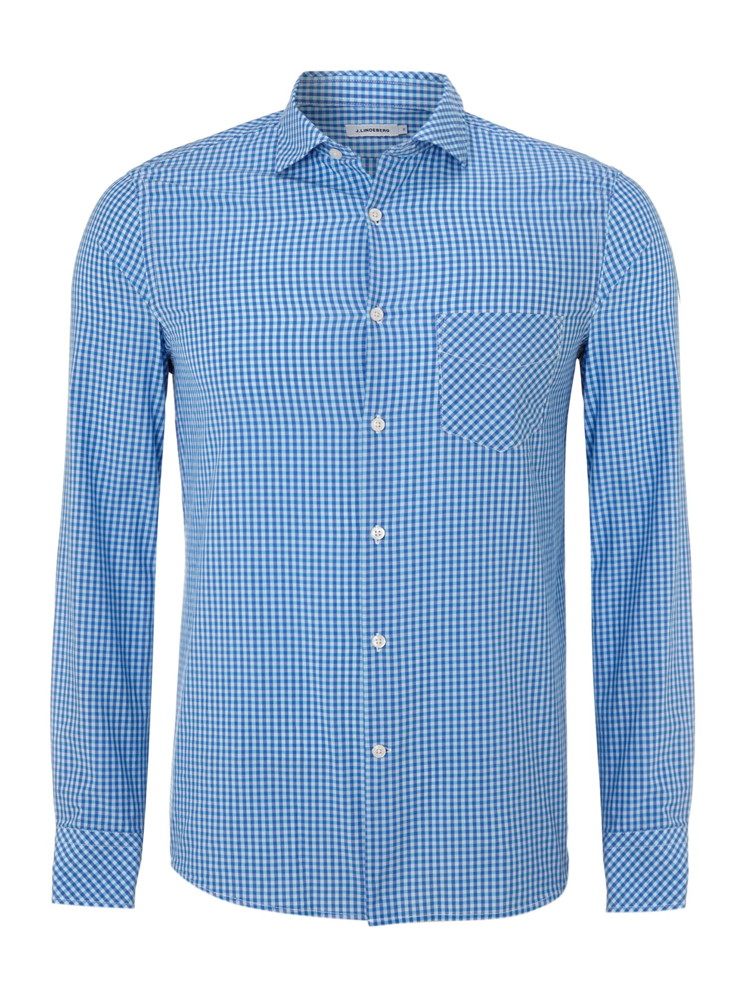 Bright gingham poplin shirt