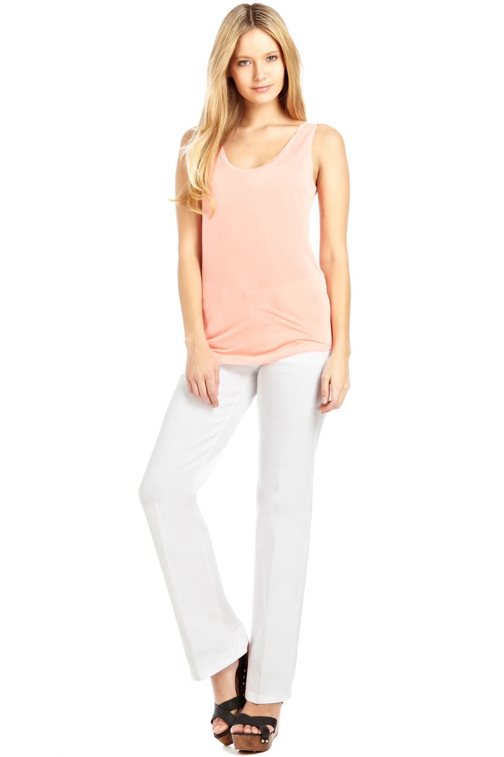 White scarlet regular jeans