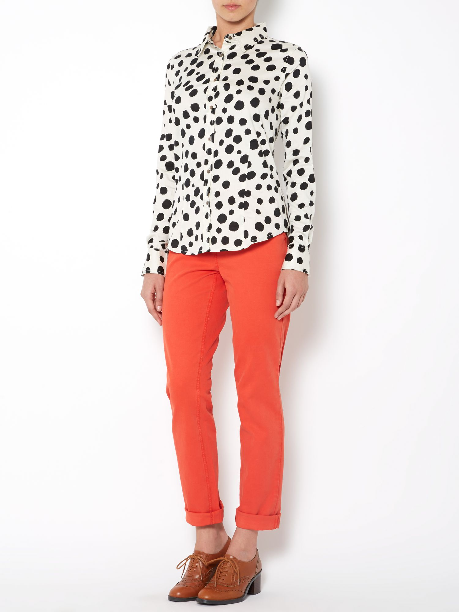 Ladies spot print shirt