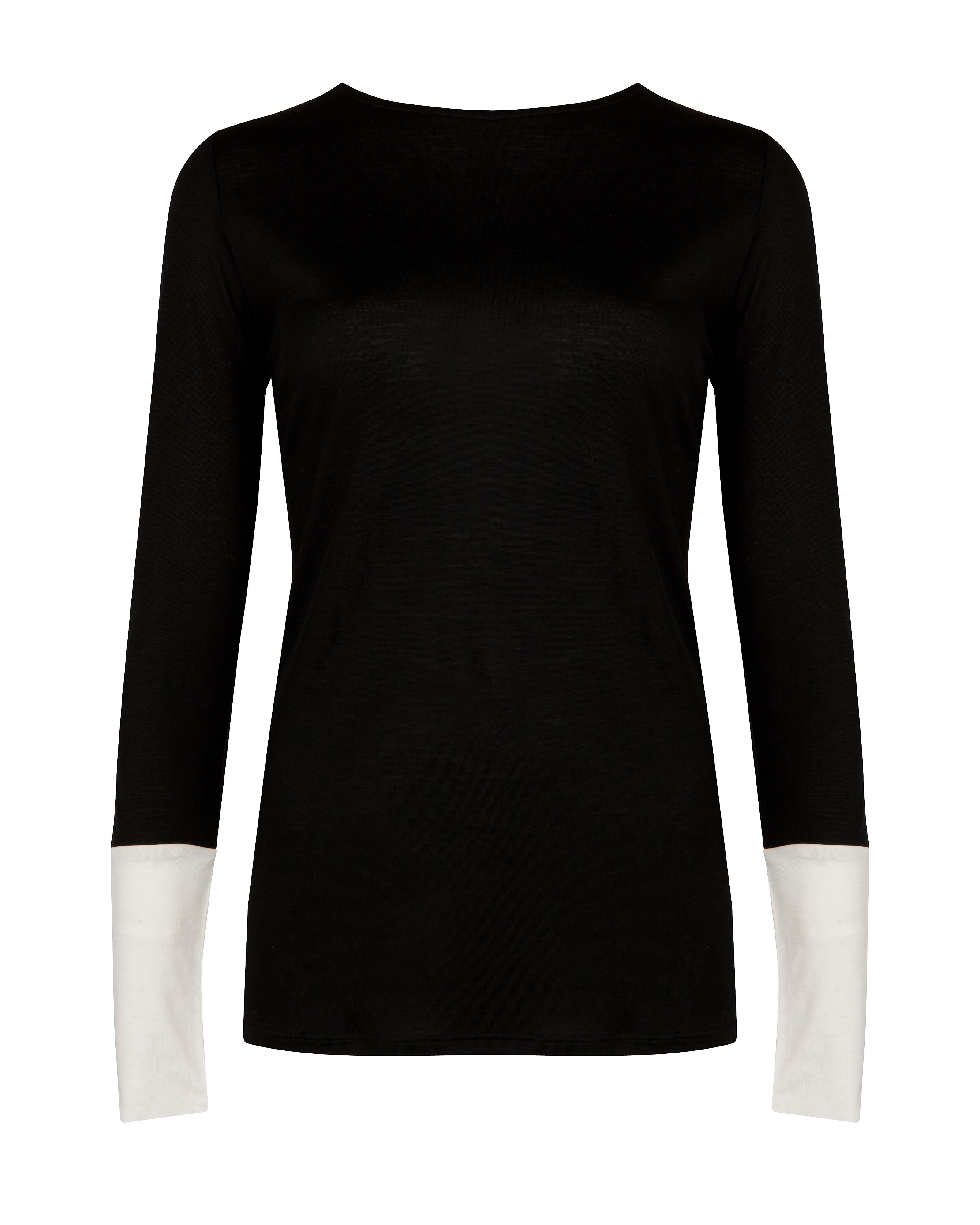 Ibbel contrast cuff sweater
