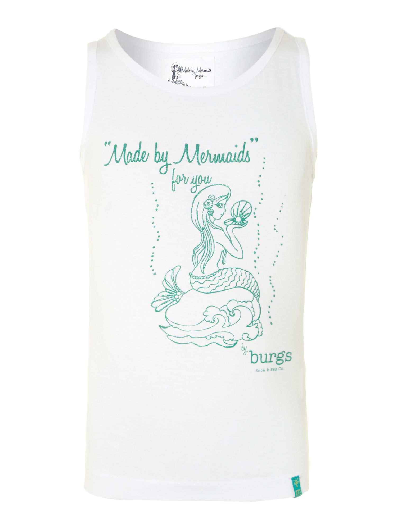 Girl`s mermaid print vest