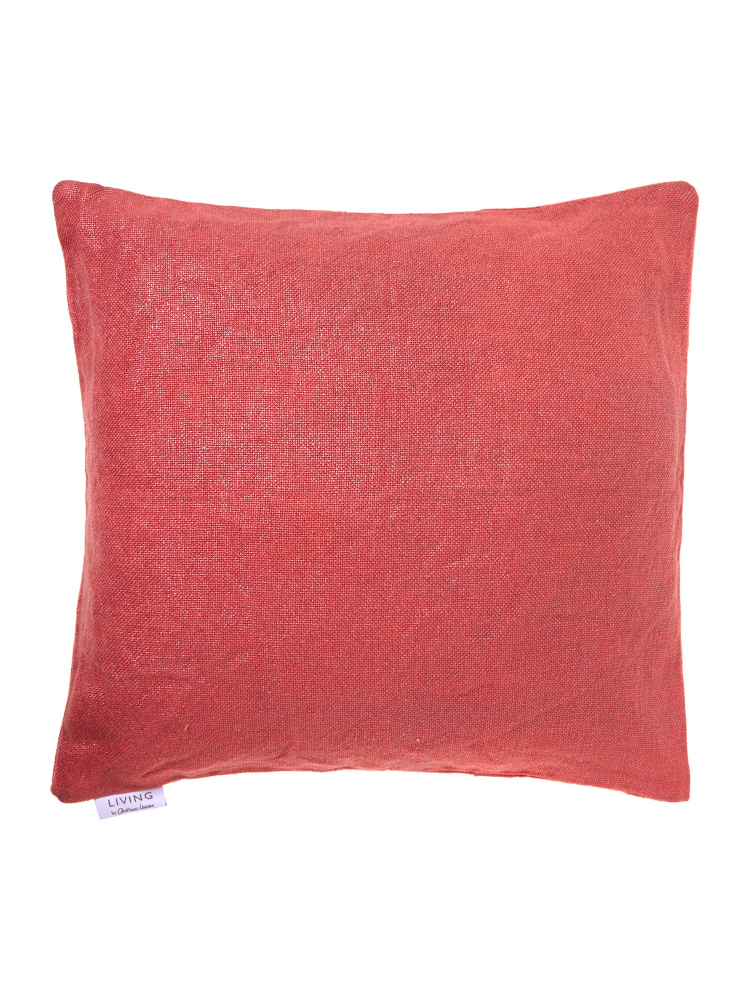 Red glazed linen cushion