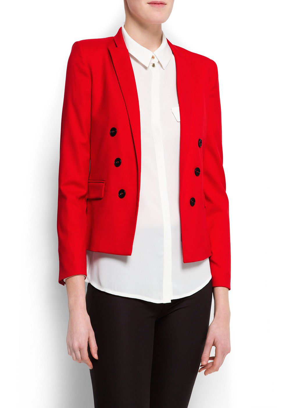 Decorative buttons blazer