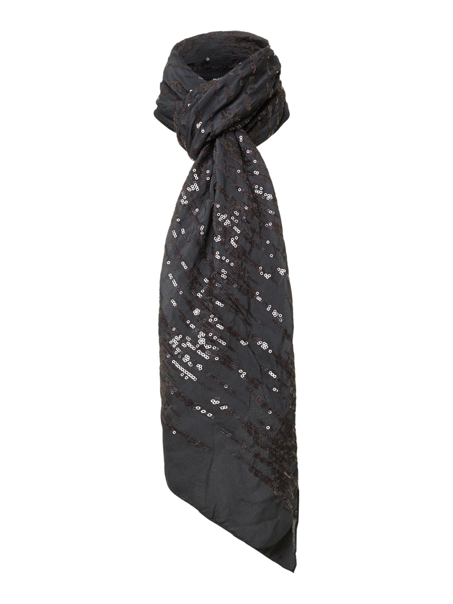 Sequin wool mix scarf