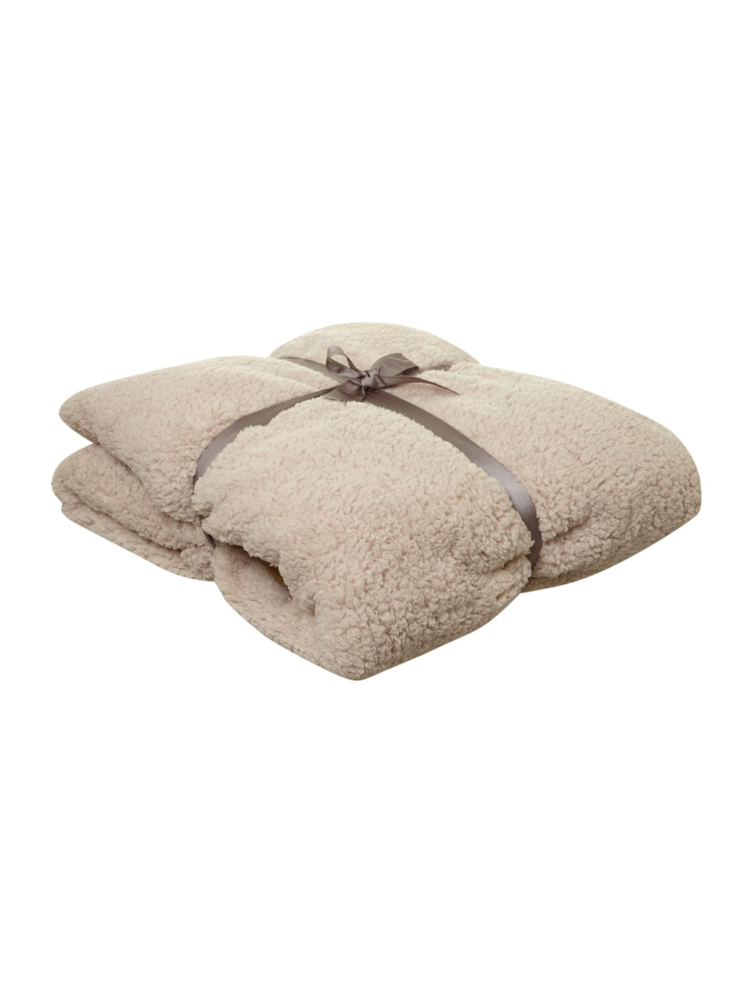Beige corduroy fleece blanket