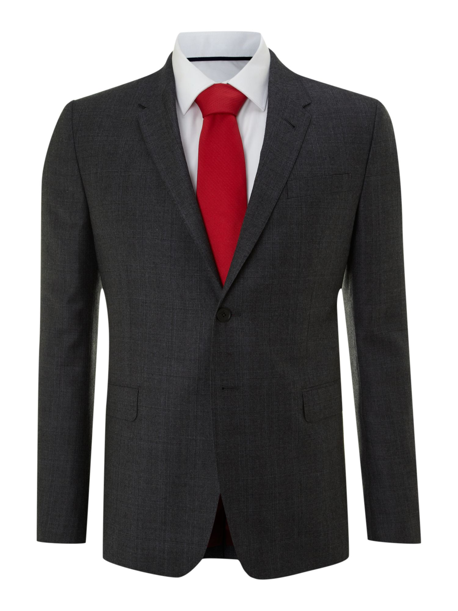Byard multi check slim fit suit
