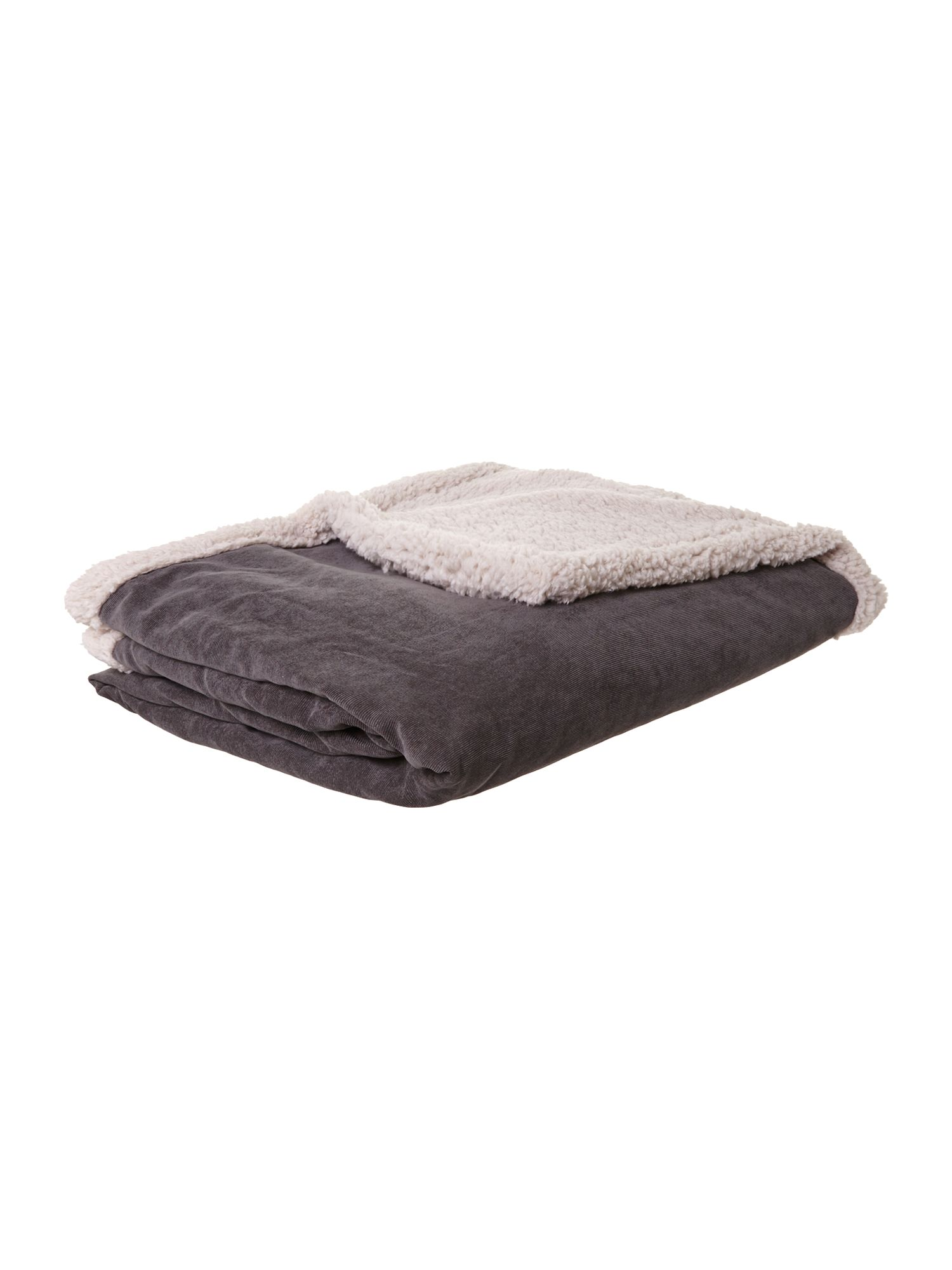 Grey corduroy fleece blanket