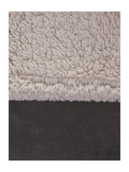 Linea Grey corduroy fleece blanket