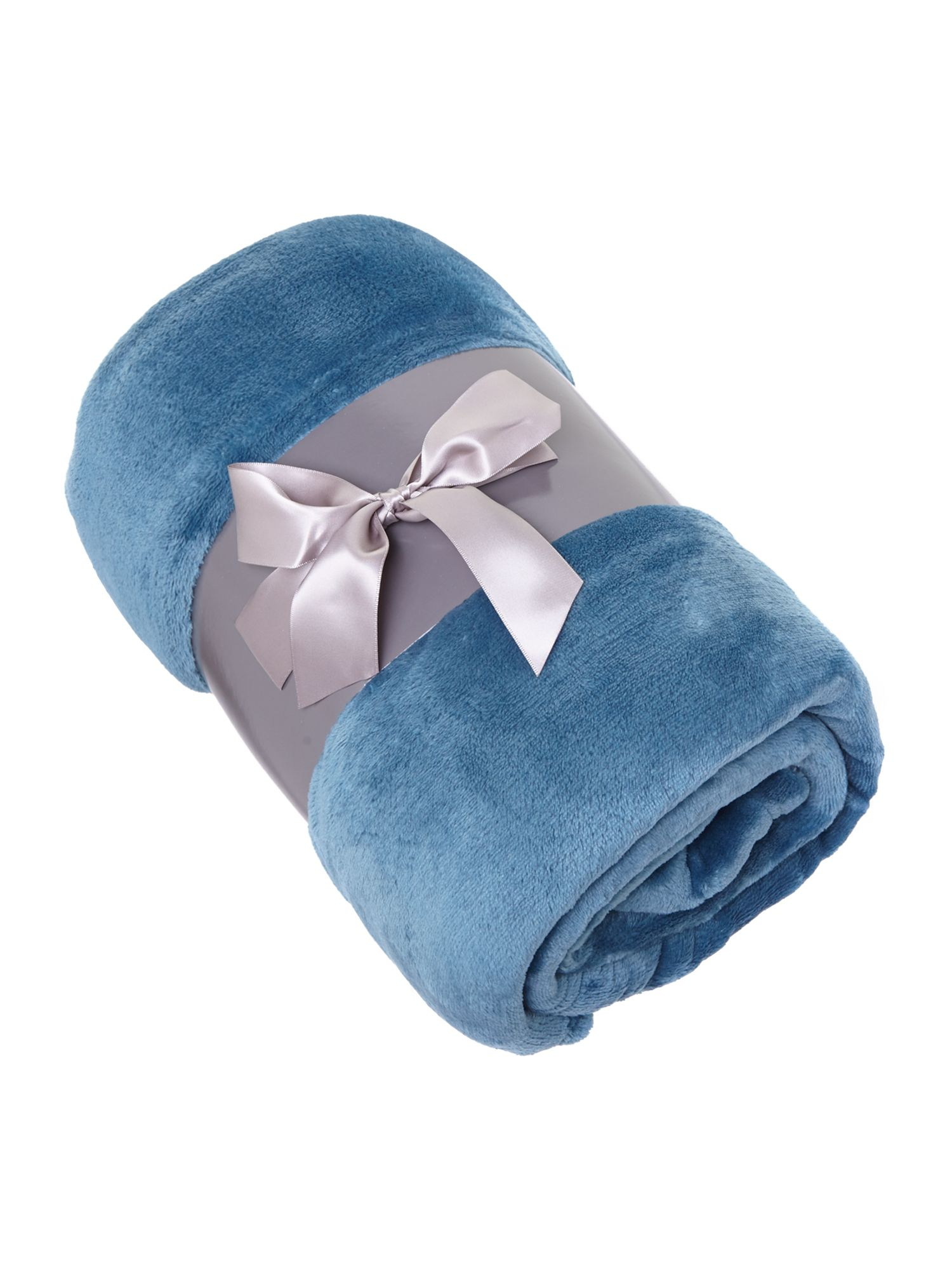 Fleece throw teal