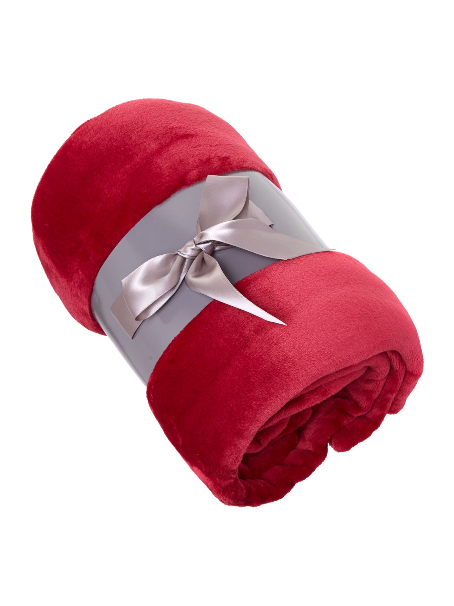Fleece throw red