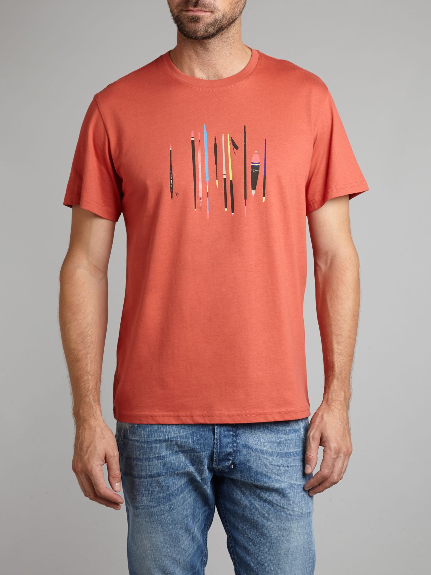 Fishing print t-shirt