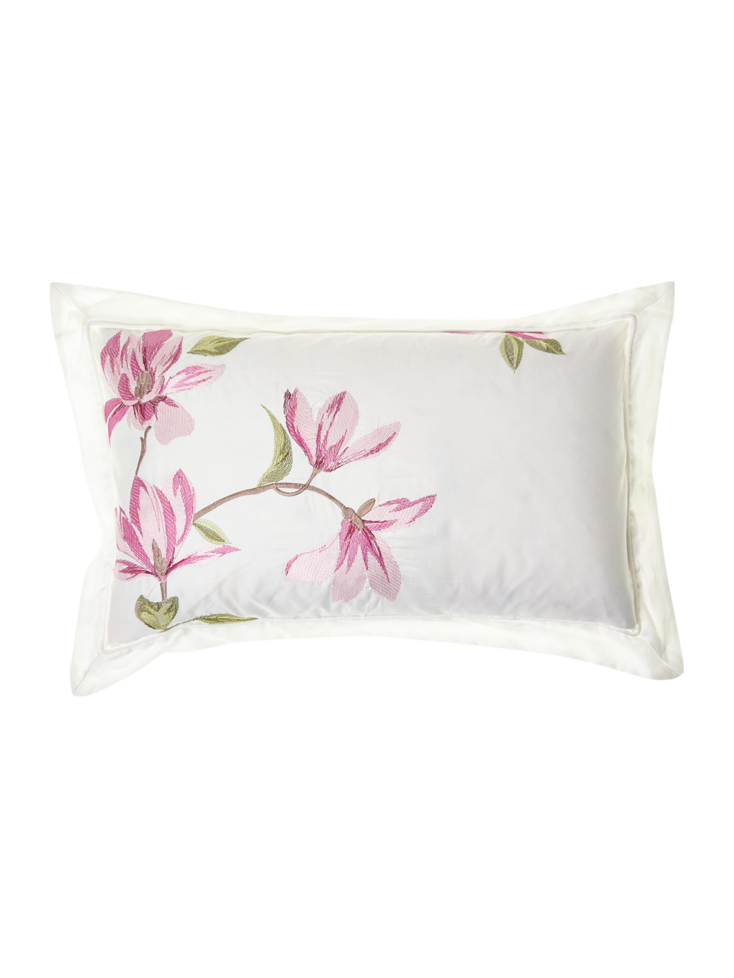 Magnolia boudoir cushion