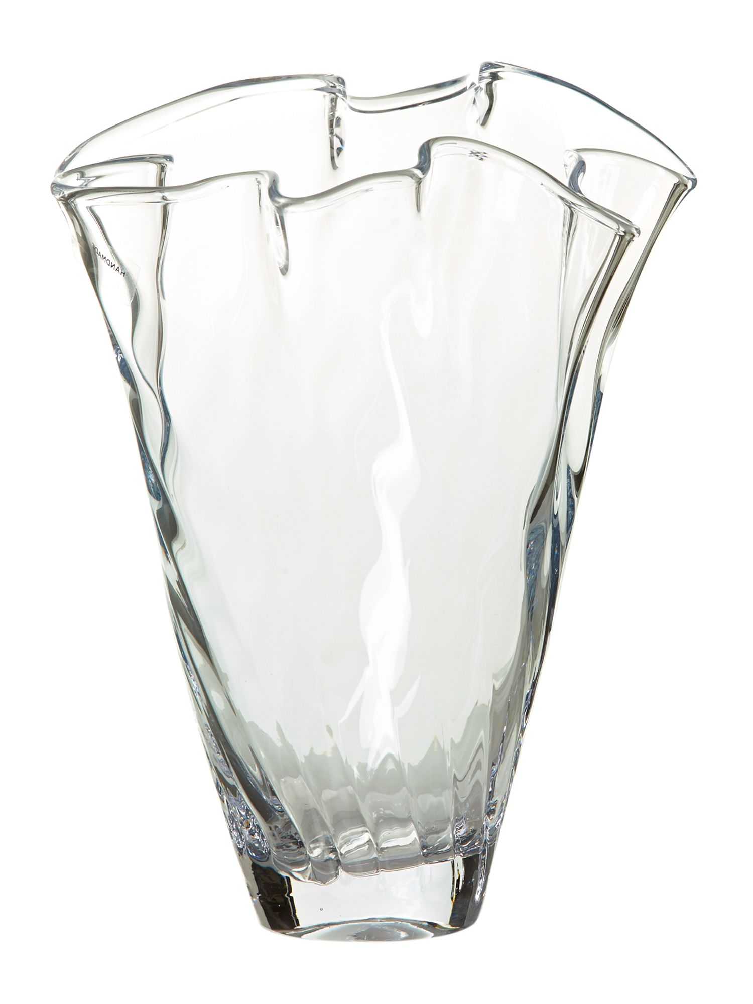 Optic handkerchief vase, clear