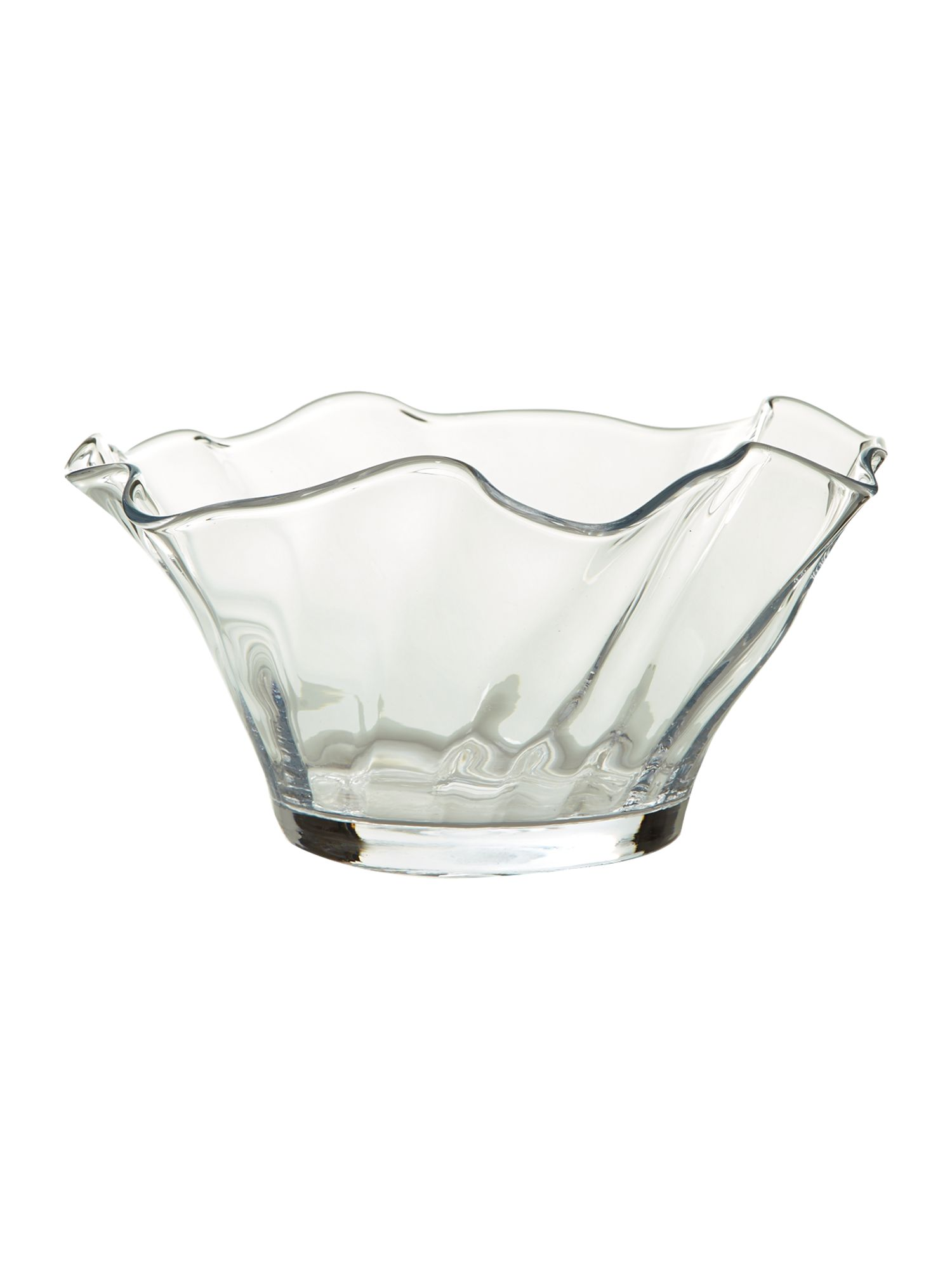 Optic handkerchief bowl, clear