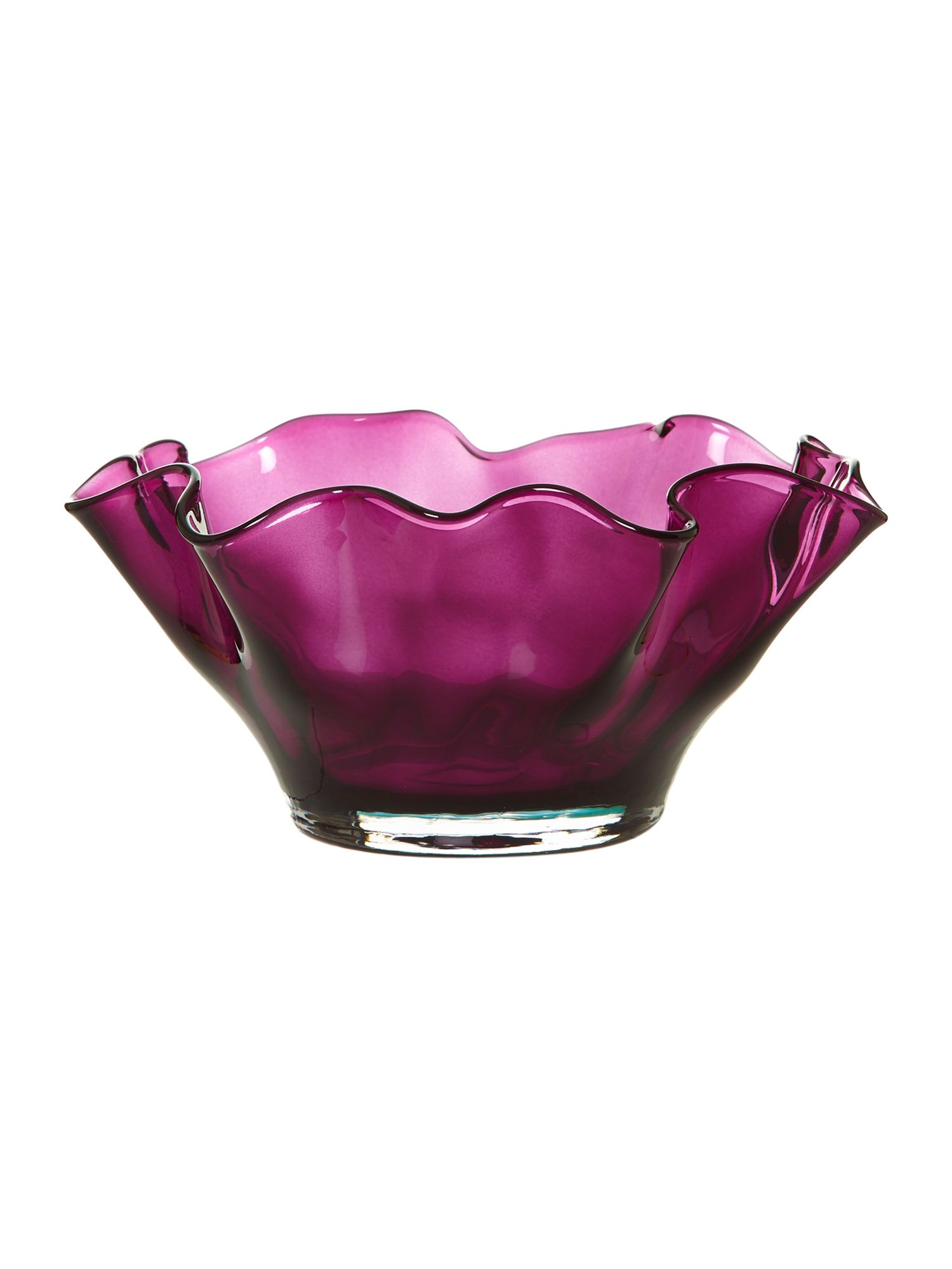Optic handkerchief bowl, plum