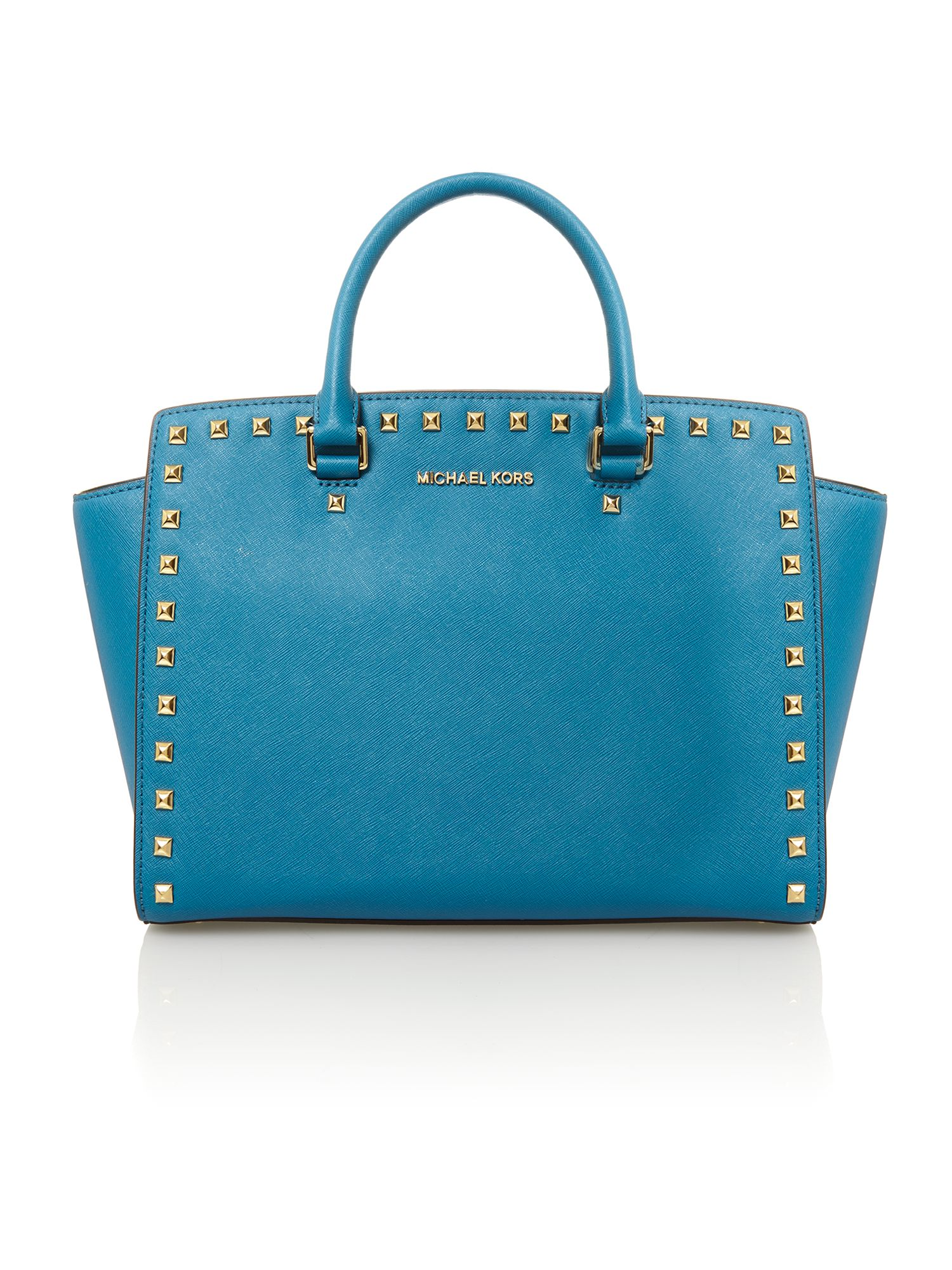 Selma stud blue tote bag