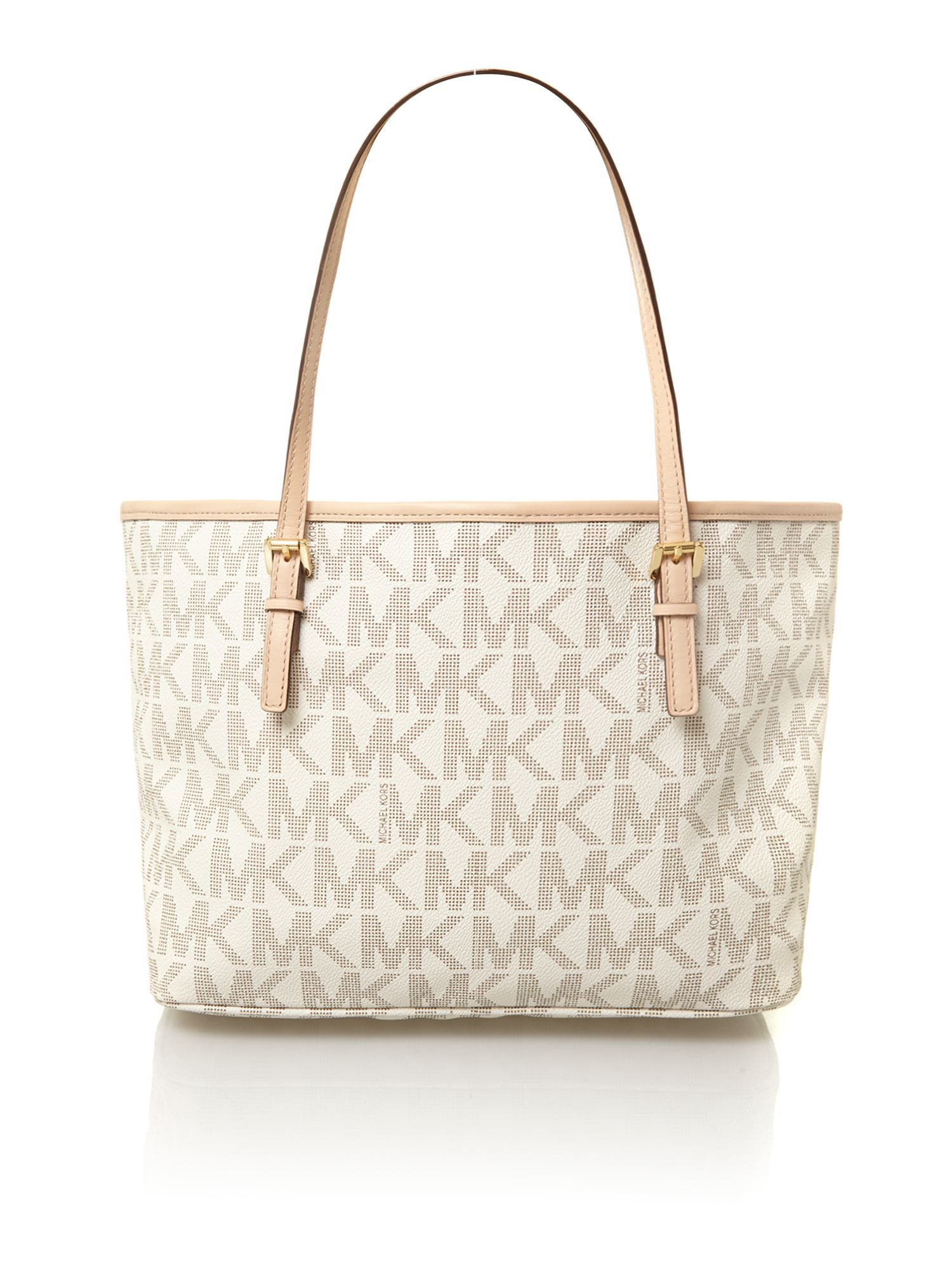 Logo neutral small tote bag