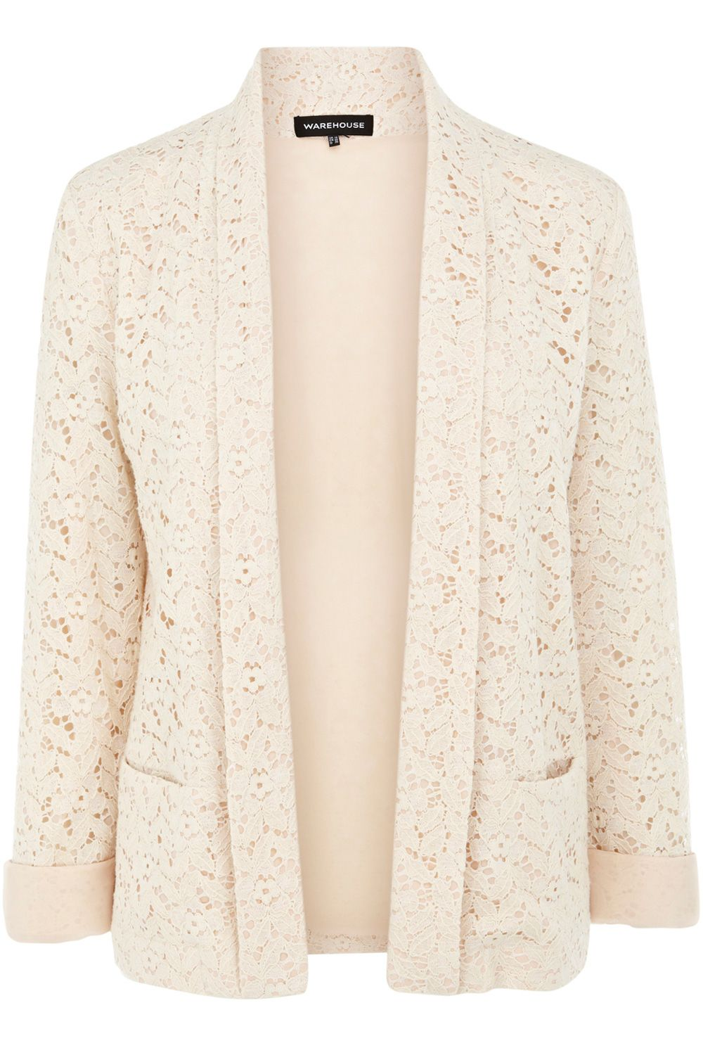 Contrast lace jacket