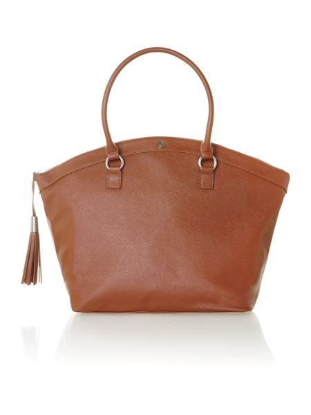 Armani Jeans Saffiano brown tote bag