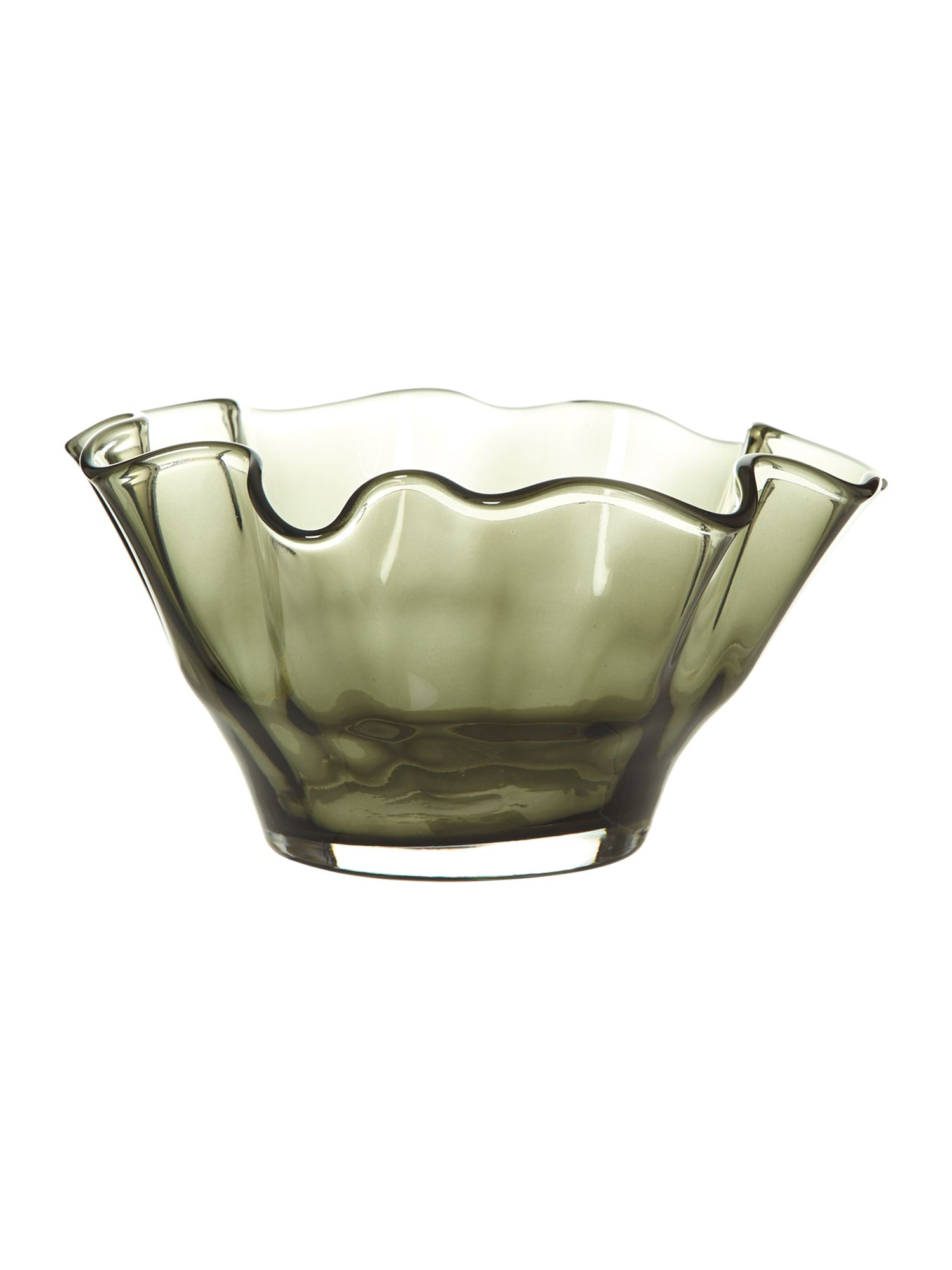 Optic handkerchief bowl, smoke