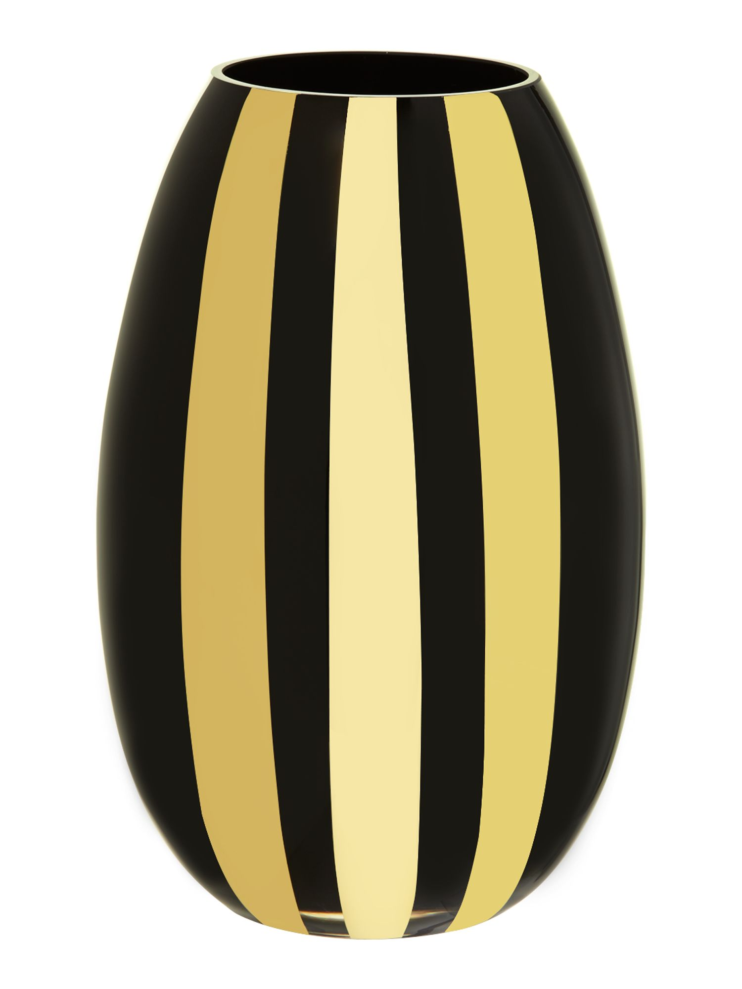 Gold stripe vase, small