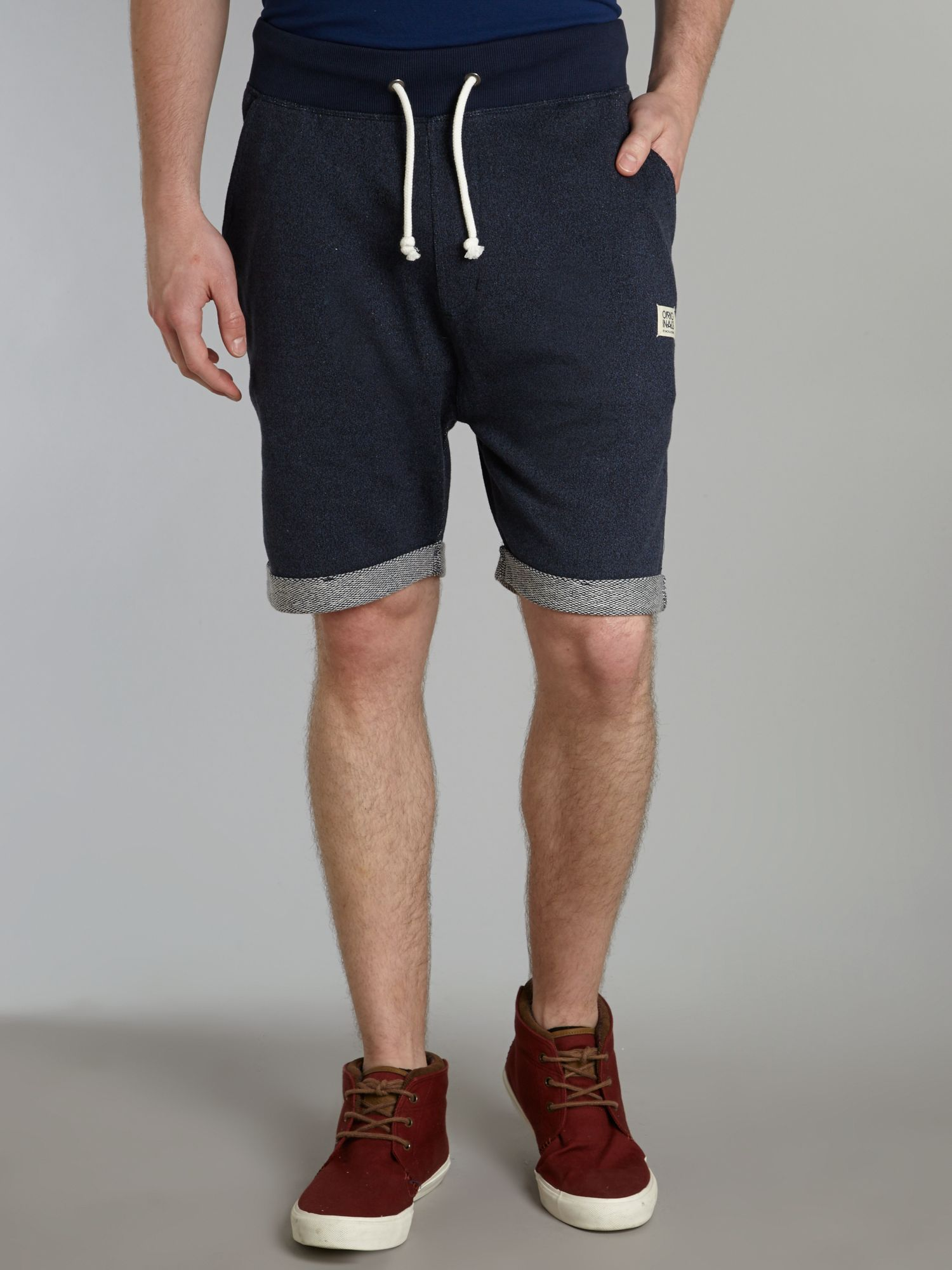 Men`s denim look shorts