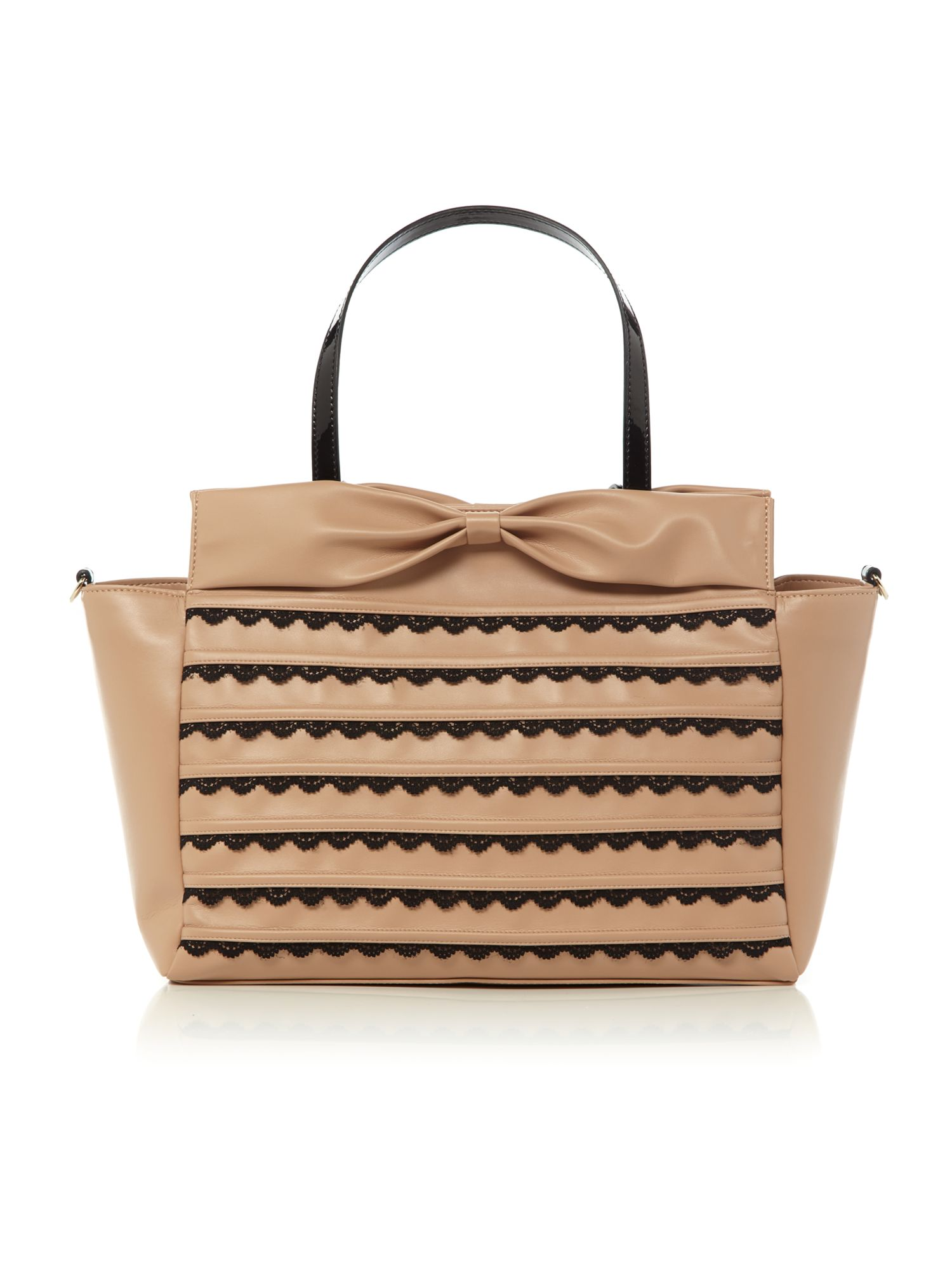 Nude large bows tote bag