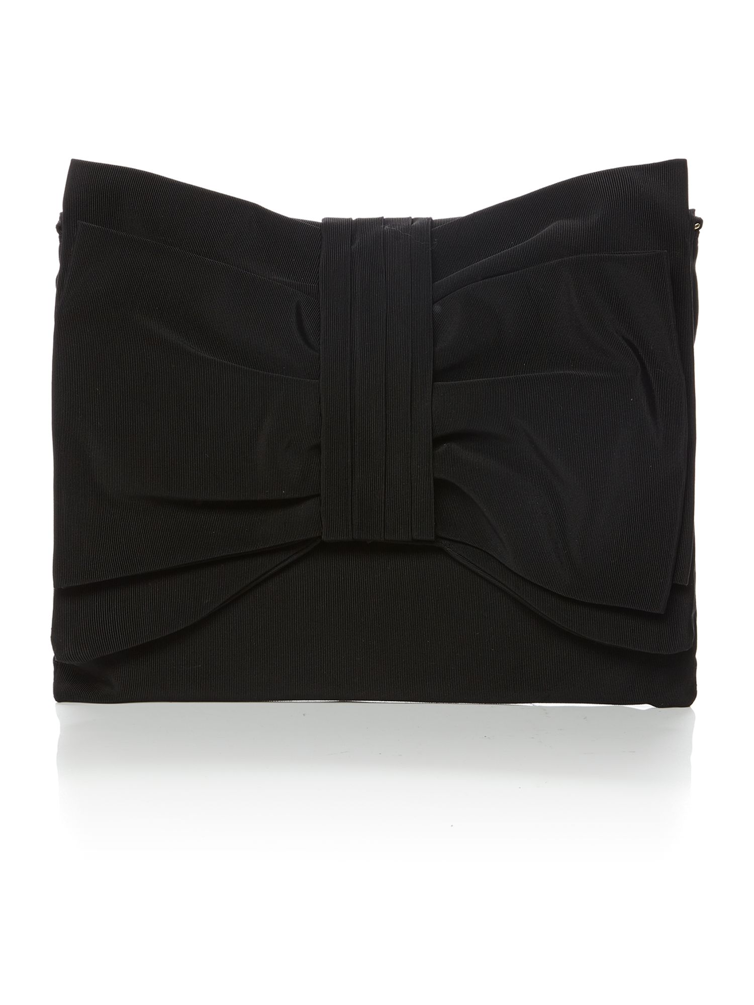 Black grosgrain shoulder bag