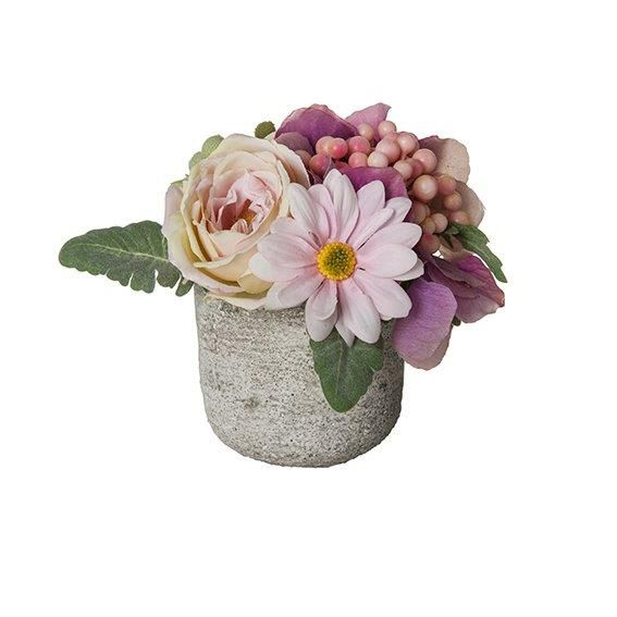 Small mixed flower & berry pot