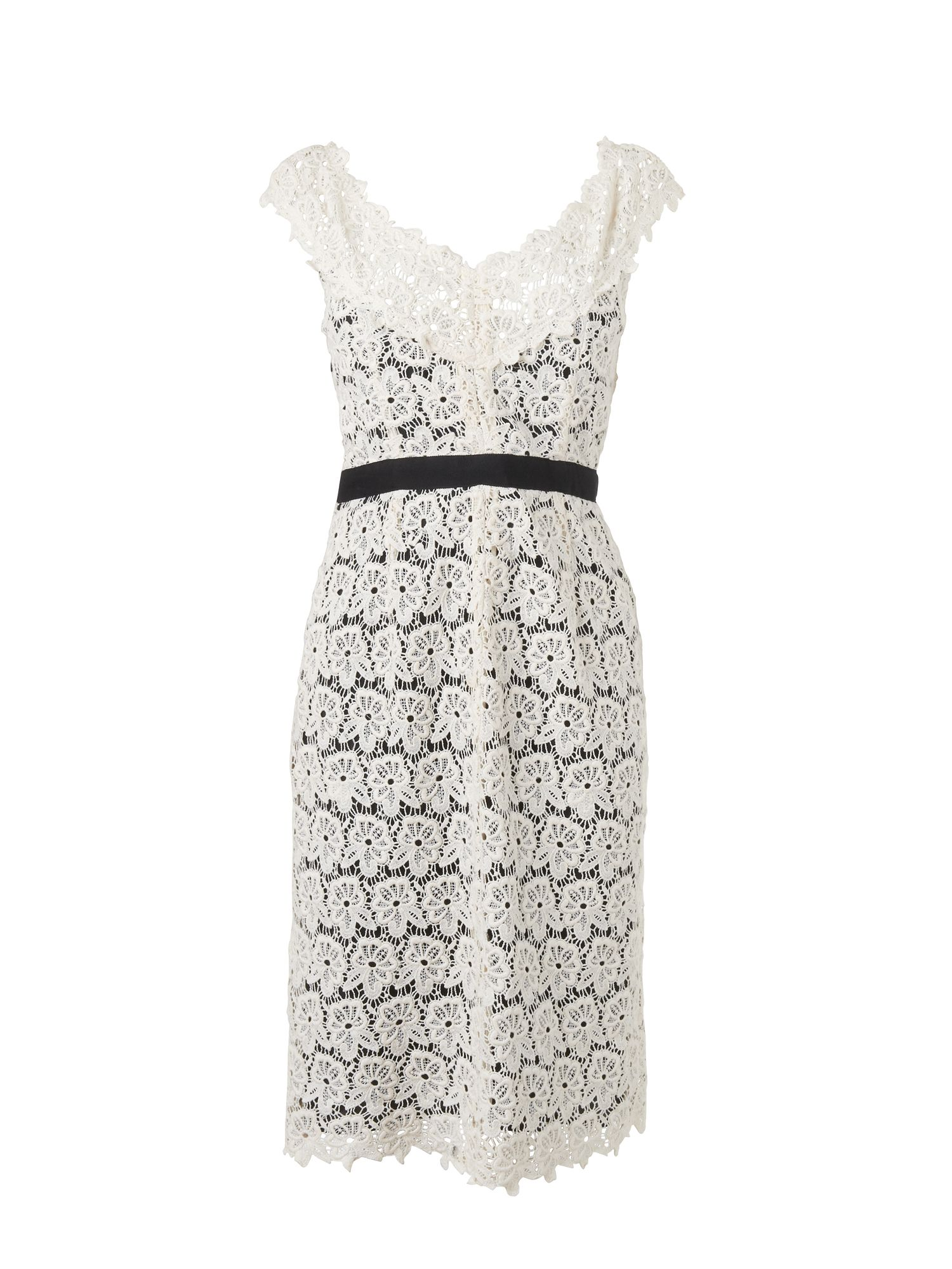 Broderie lace dress with contrast tr