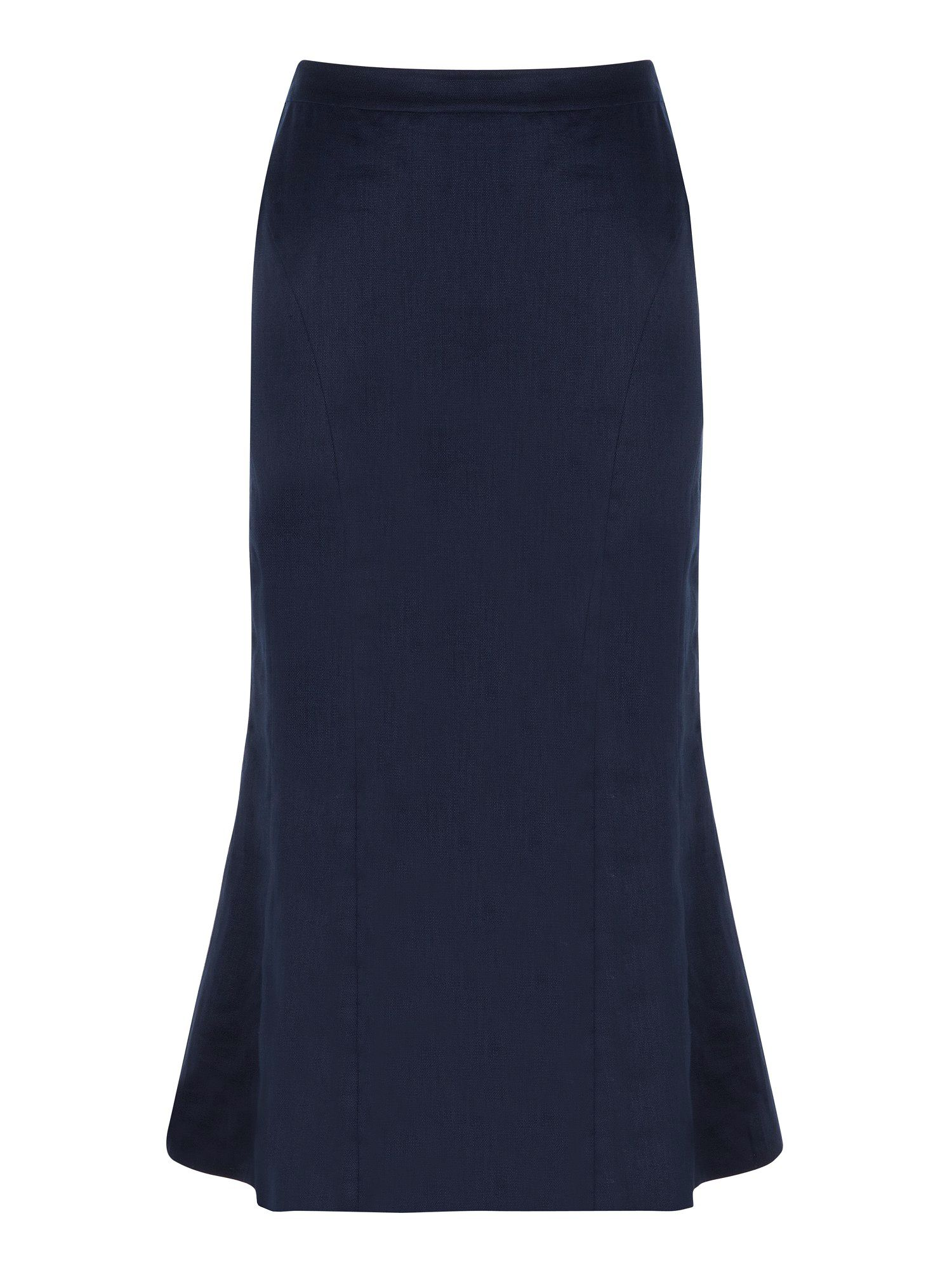 French navy linen skirt