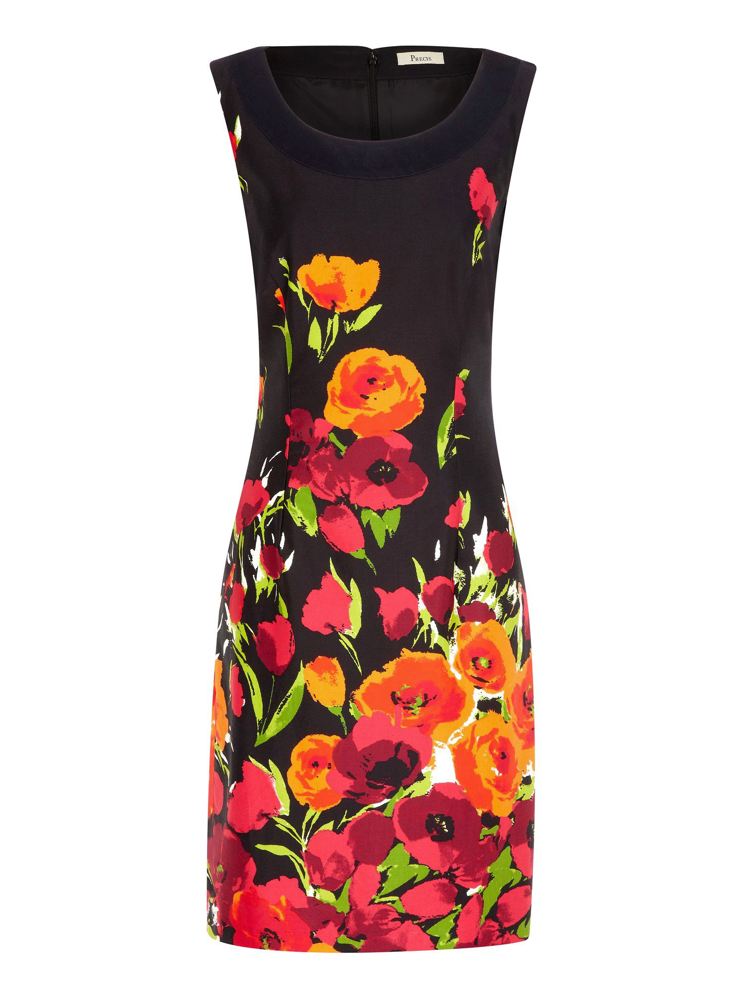 Bouquet print shift dress