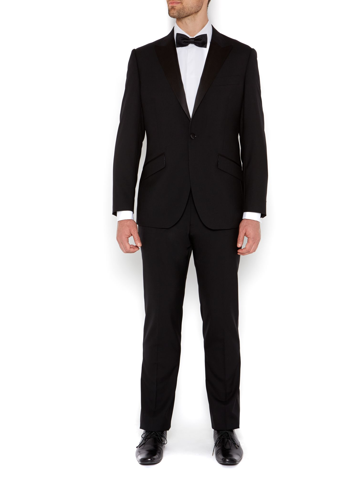Benson black evening jacket with satin peak lapel