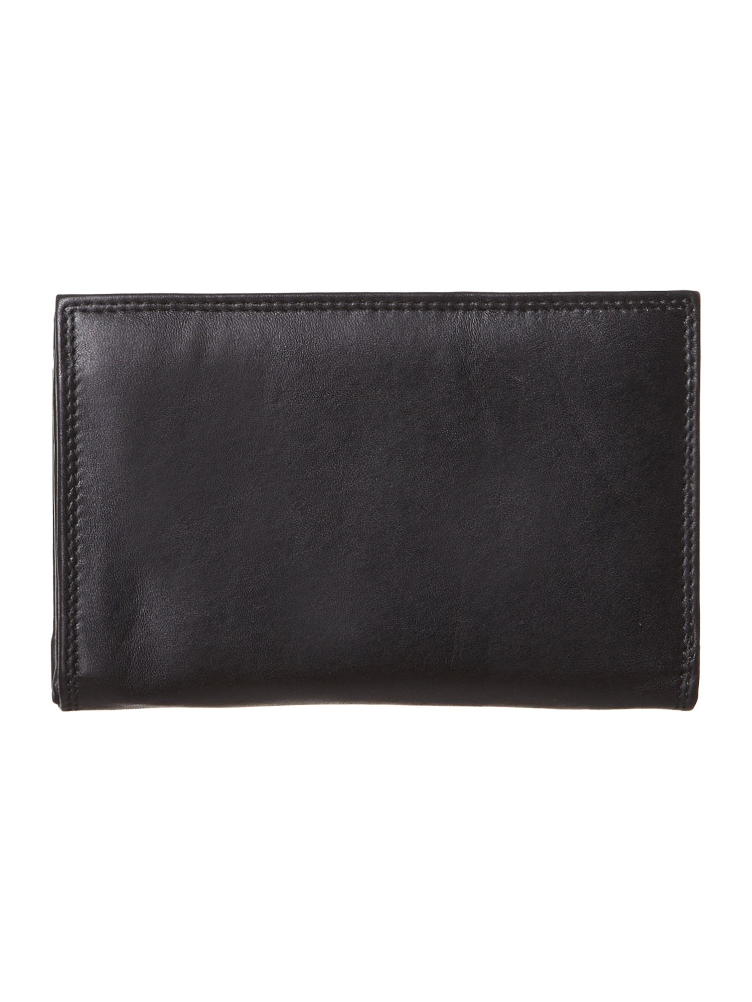 Black medium flap over purse