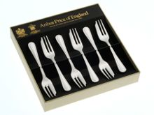 Britannia silver plated box of 6 pastry forks
