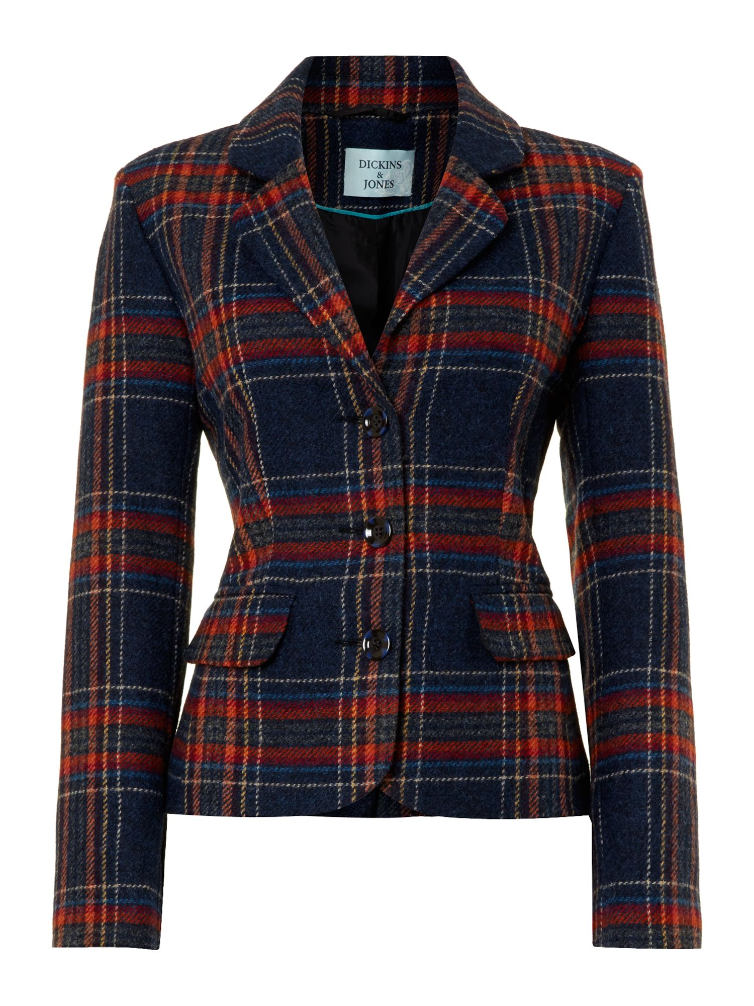 Ladies british check blazer