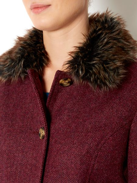 Dickins & Jones British kensington wool faux fur coat