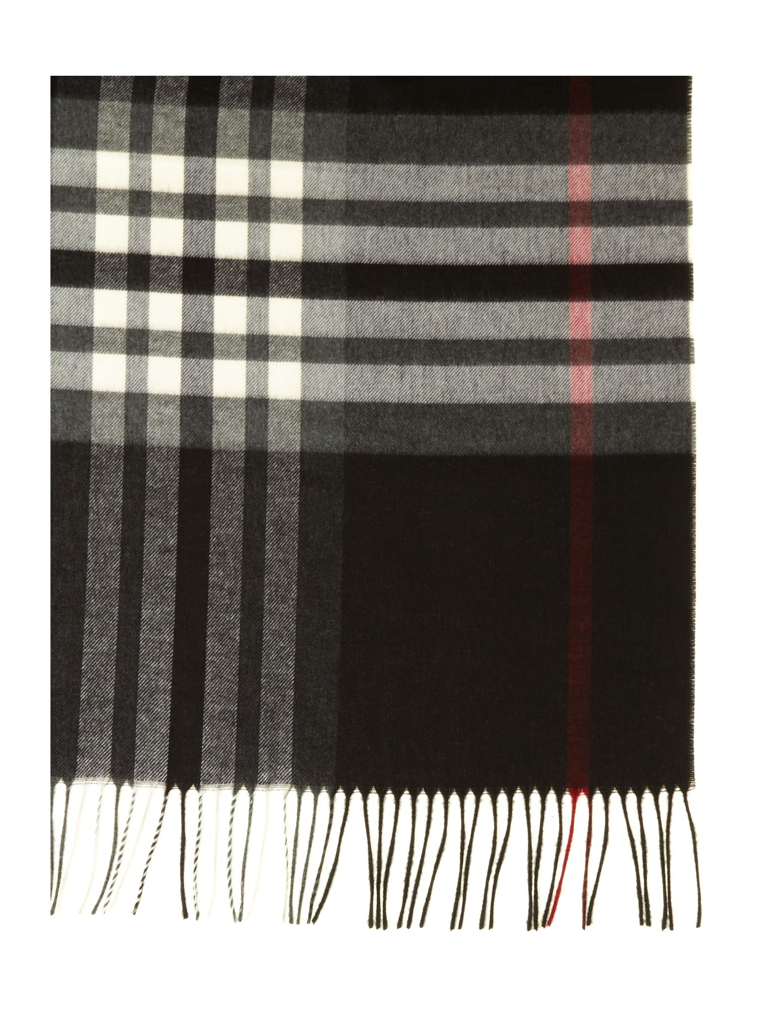 Checked wide Cashmink® scarf