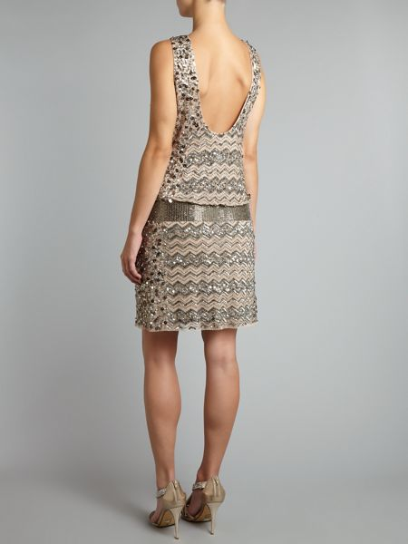 Adrianna Papell Pave beaded dress