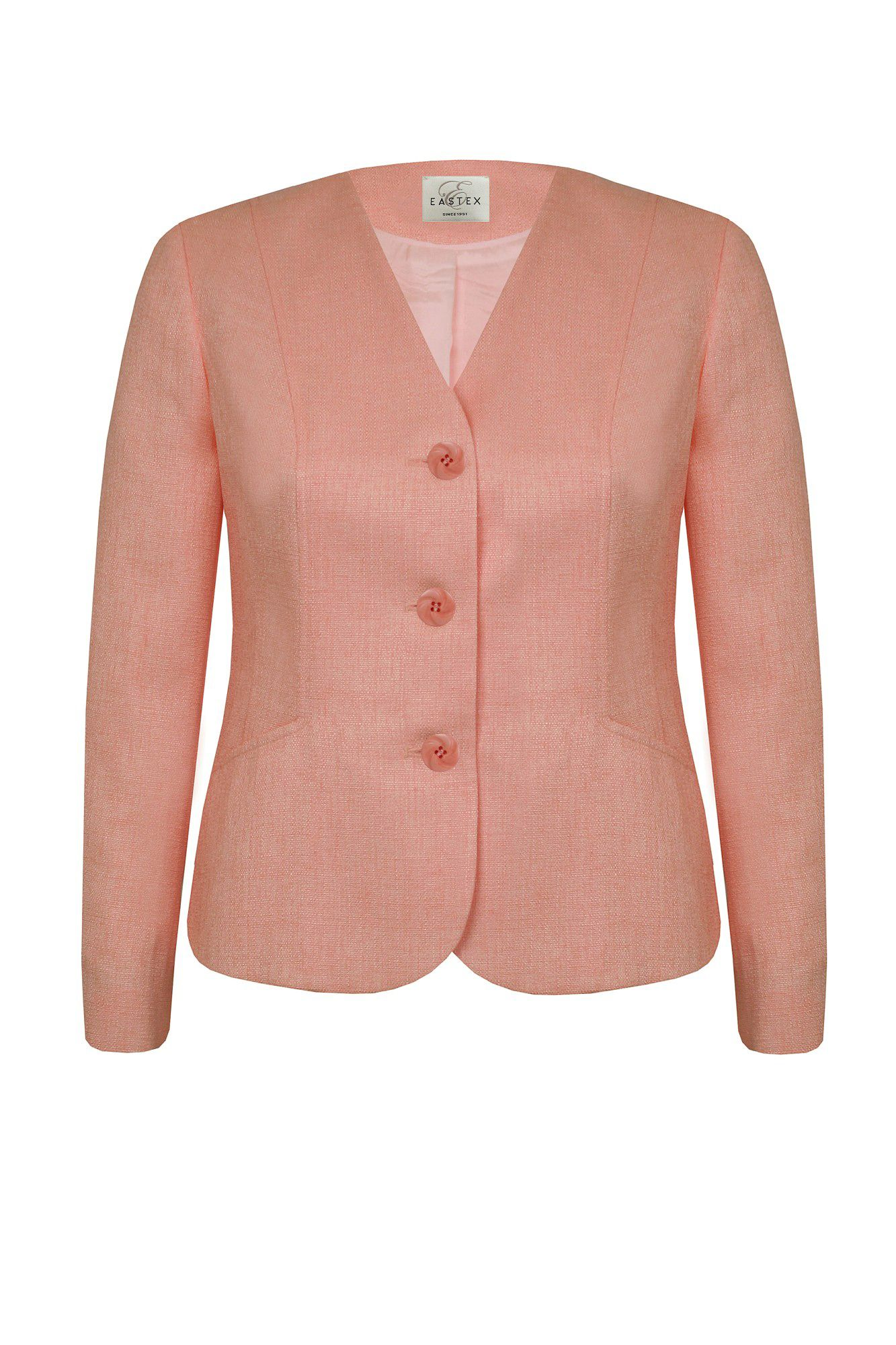 3 button basket weave jacket
