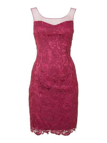 Adrianna Papell Illusion lace dress