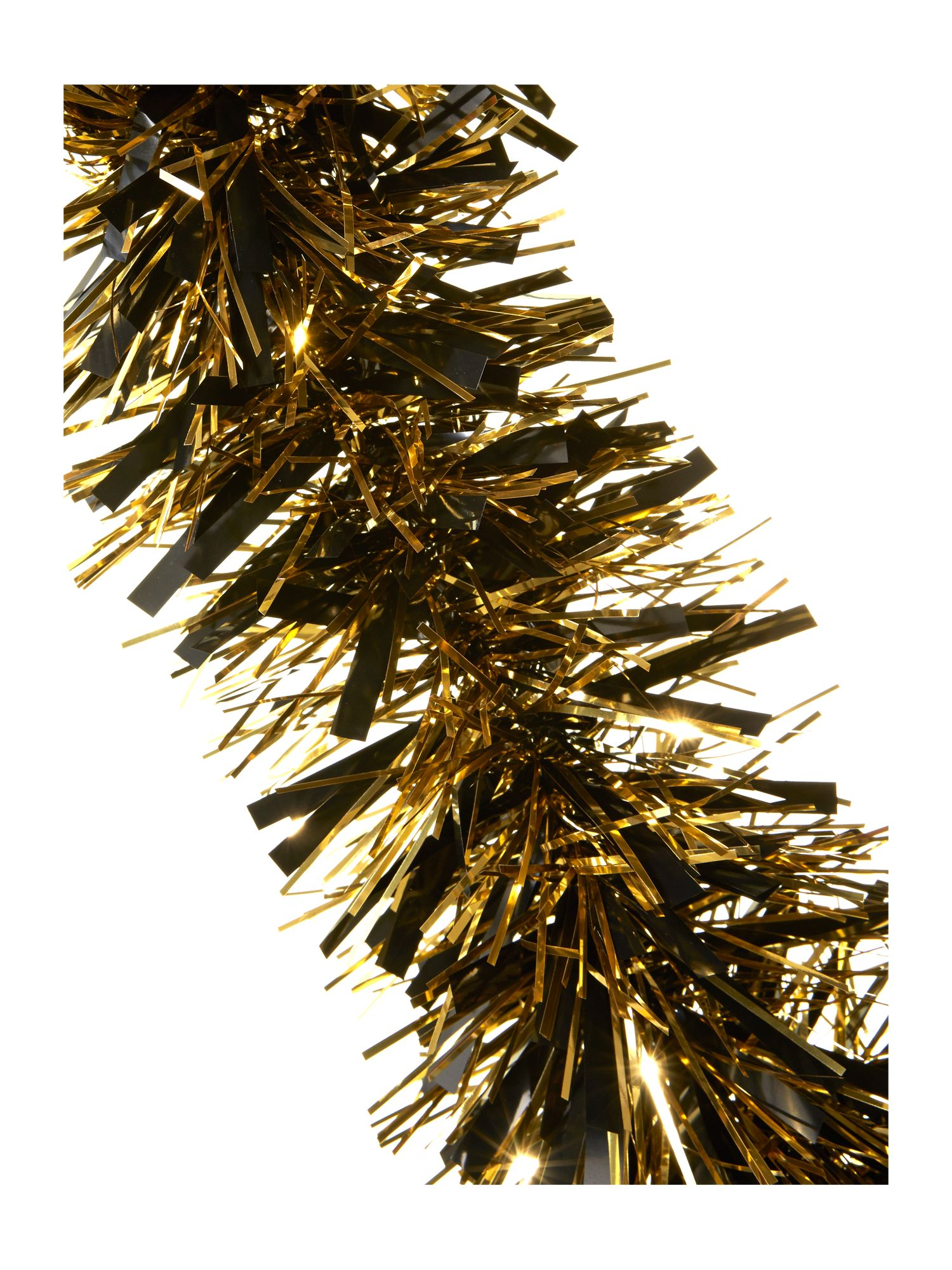 Biba gold and black tinsel