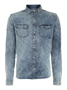 Pennine denim long sleeve shirt