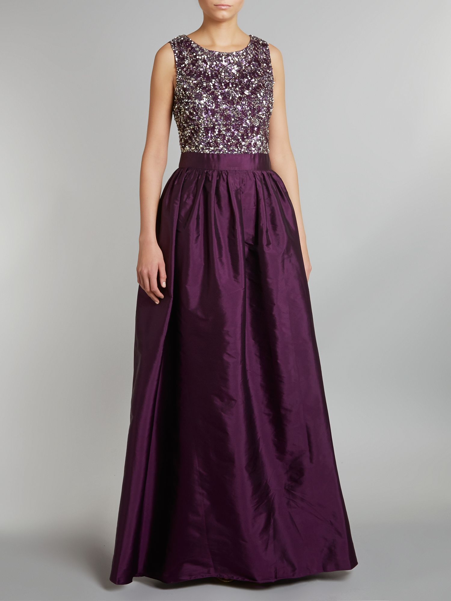 Beaded Bodice Long Gown