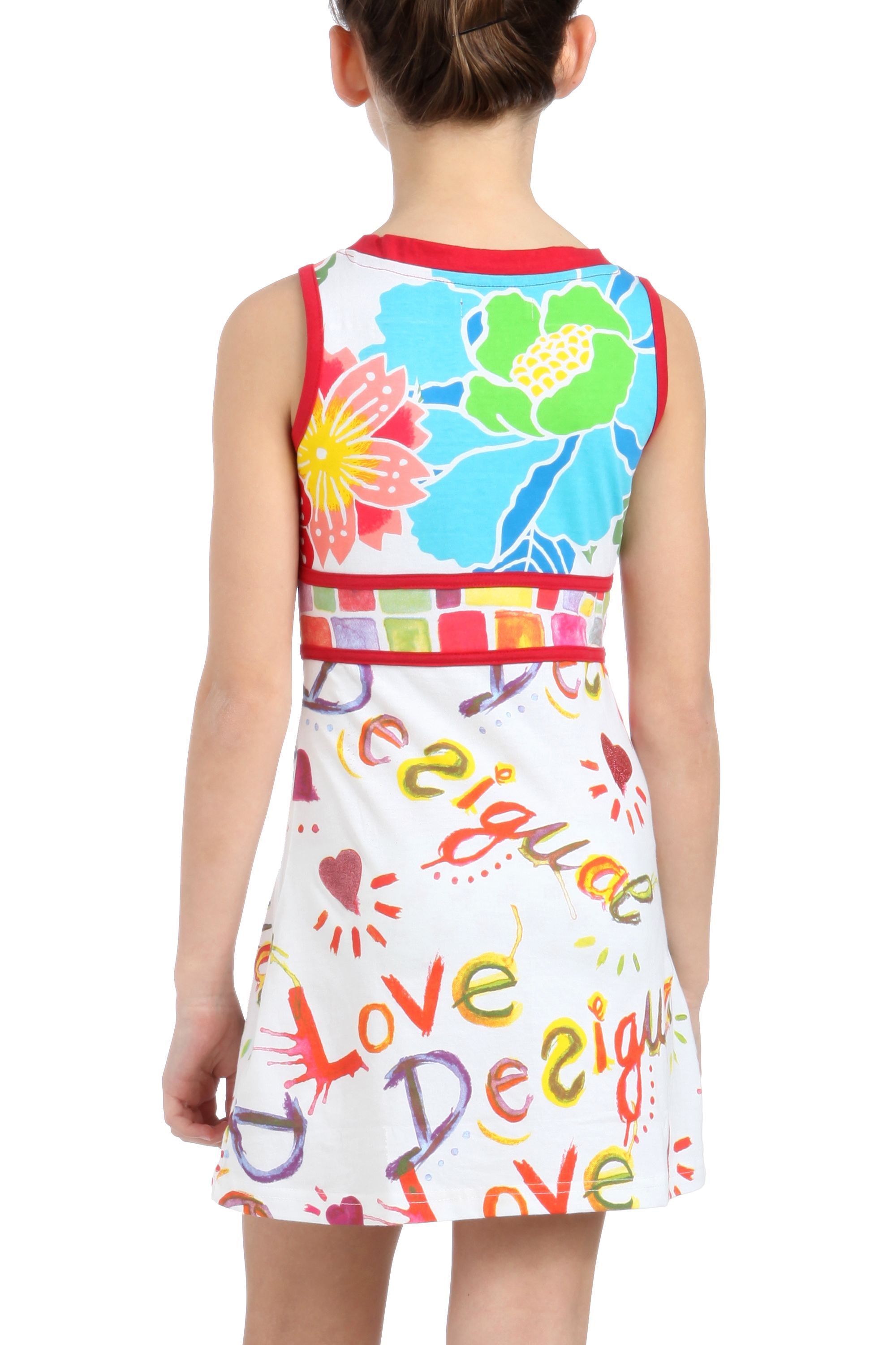 Girl`s mixed print dress