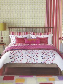 Berry tree lined curtains 66x90 (168x229cm) berry