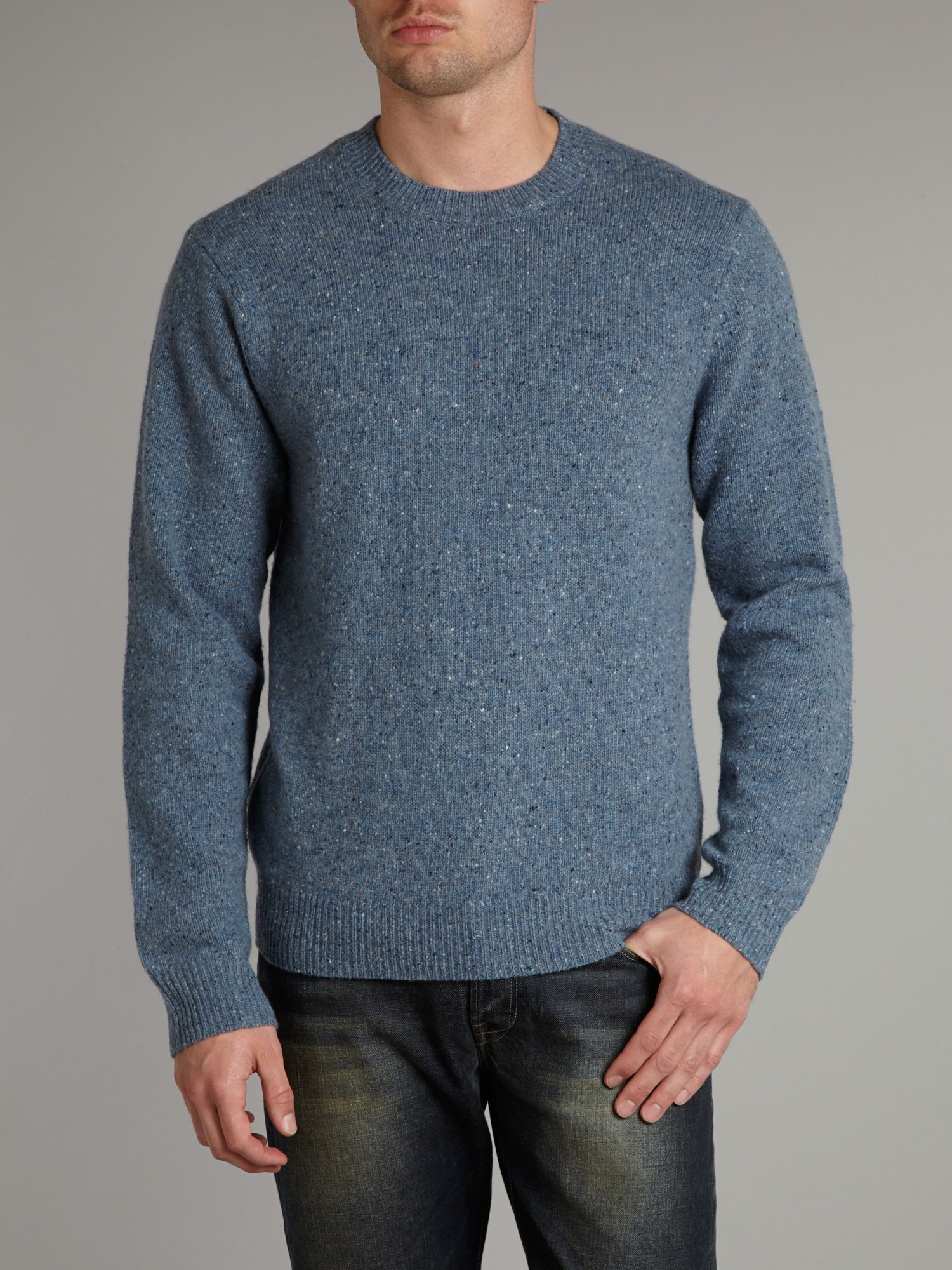 Tweed crew neck jumper