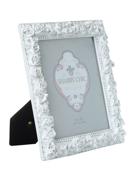 Shabby Chic Rose photo frame 8x10
