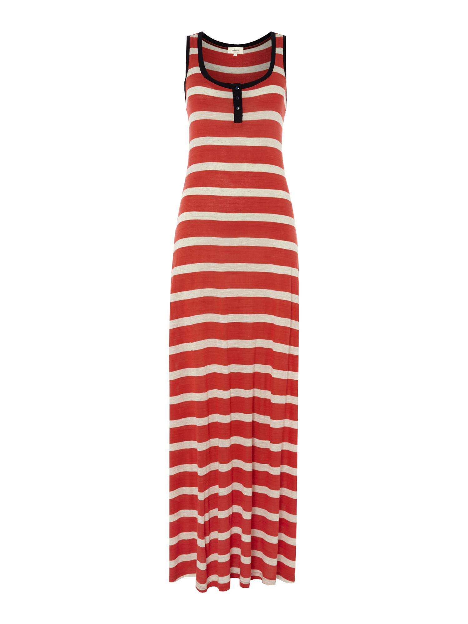 Ladies stripe jersey maxi dress